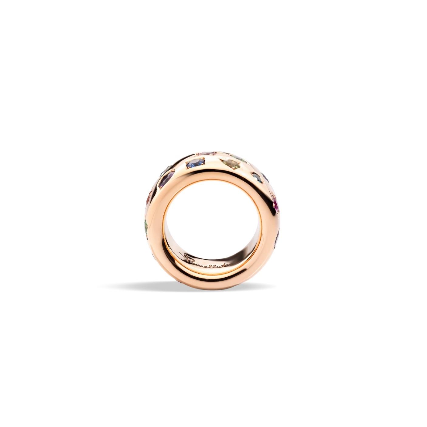 Pomellato Pomellato Iconica ring in 18 krt. roségoud met edelstenen