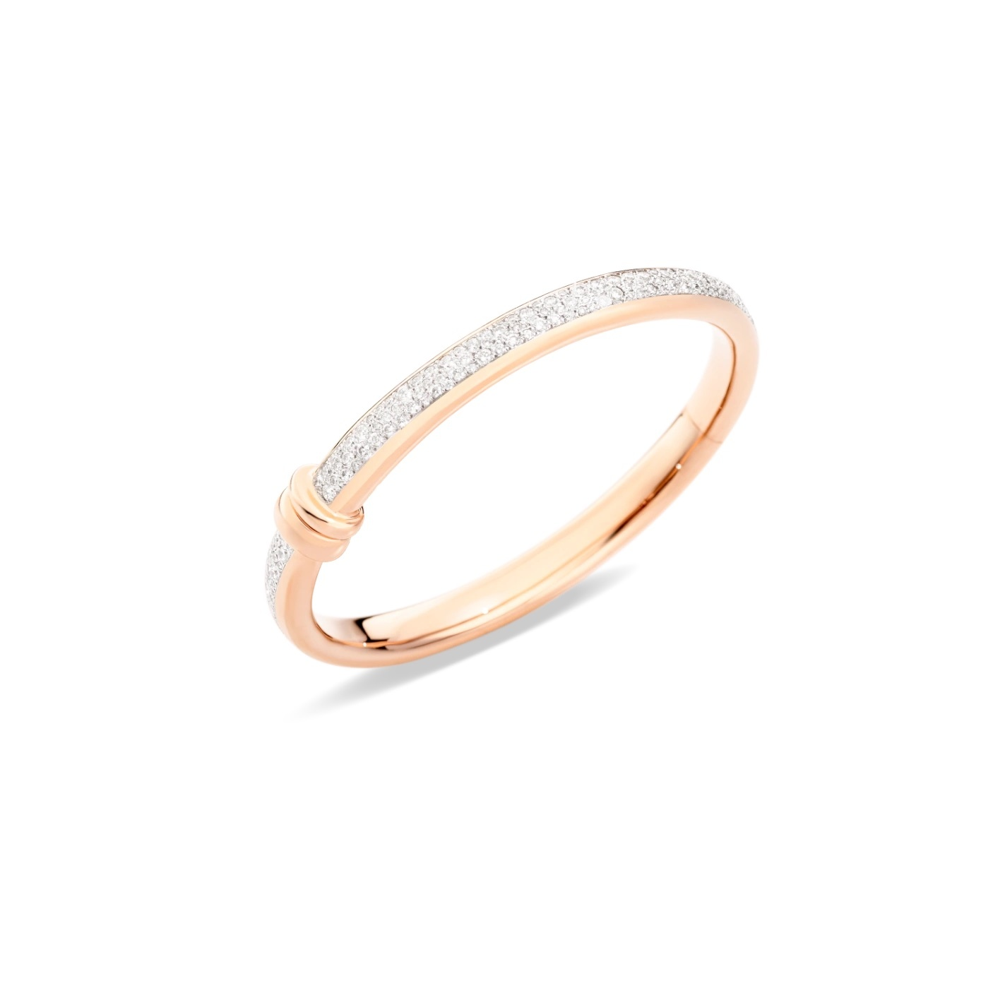 Pomellato Pomellato Iconica armband in 18 krt. roségoud met witte diamanten