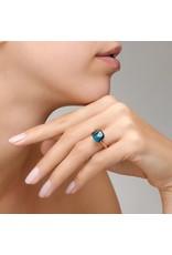 Pomellato Pomellato Nudo Classic ring in 18 krt. roségoud met London blue topaas