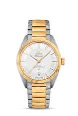 Omega Omega Constellation Globemaster Co-Axial Master Chronometer 39 mm staal/gouden kast en band - witte wijzerplaat