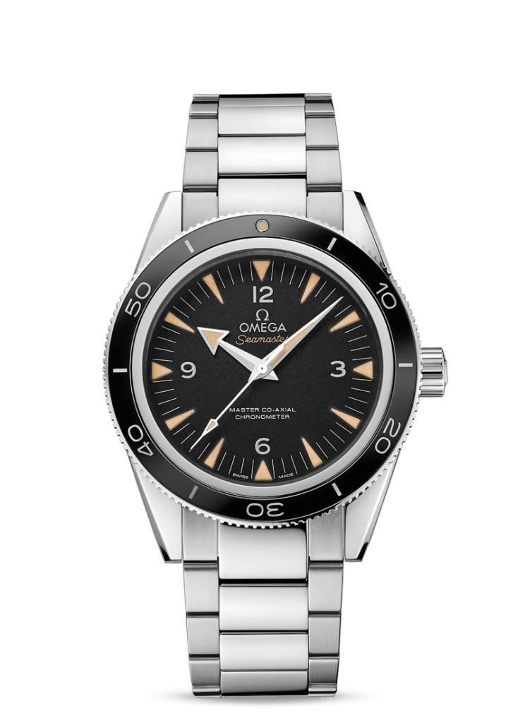 Omega Omega Seamaster 300 Master Co-Axial Chronometer 41 mm edelstalen kast en band - zwarte wijzerplaat