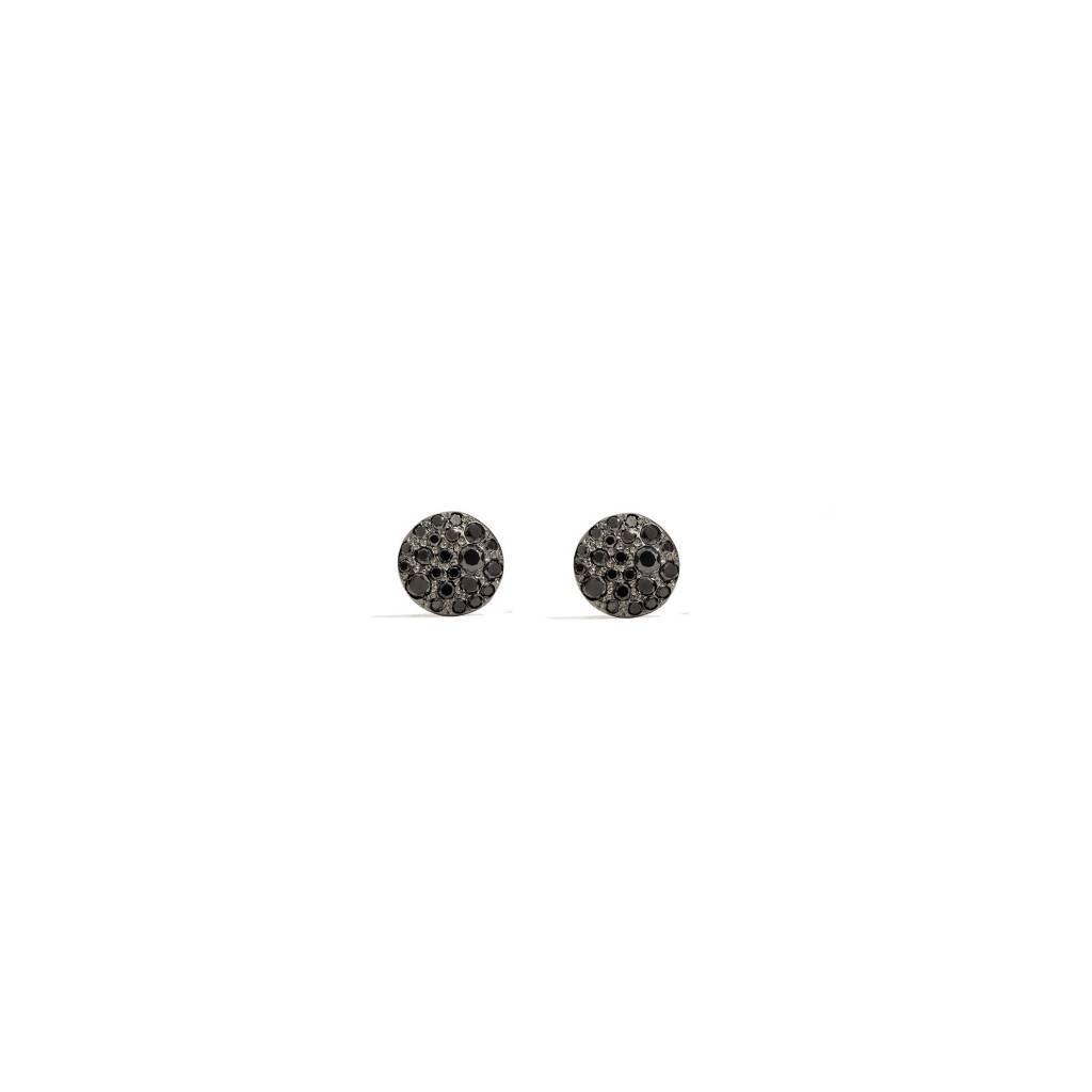 Pomellato Pomellato Sabbia oorstekers 18 kt.roségoud met zwarte diamant