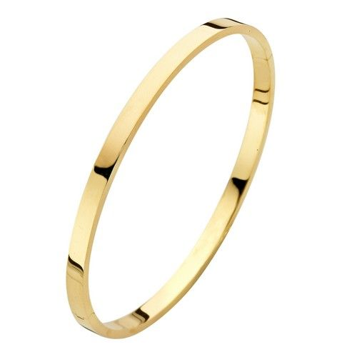 Fjory Fjory 14 kt. geelgouden armband met zilveren kern 4 mm. vierkant