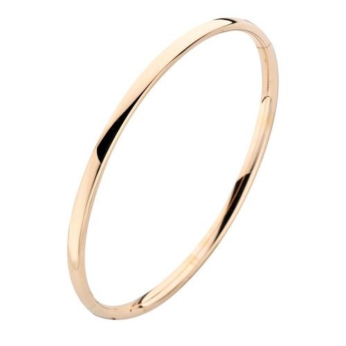 Fjory Fjory 14 kt. roségouden armband met zilveren kern 3 mm. ovaal