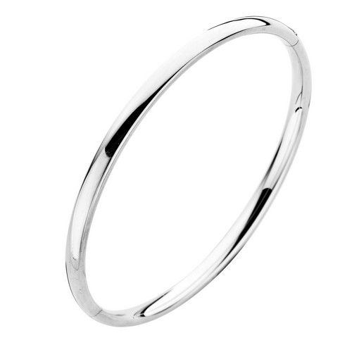 Fjory Fjory 14 kt. witgouden armband met zilveren kern 5 mm. ovaal