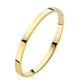 Fjory Fjory gouden armband met zilveren kern vierkant