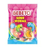 Bebeto Jelly Gum Sour Worms (80g)