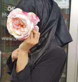 Hijab mit schöne Muster (schwarz)