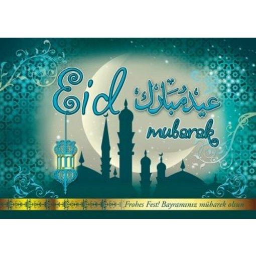 Eid Glückwusche - Postkarte - XL