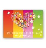 Ich Liebe dich für Allah - Postkarte XL