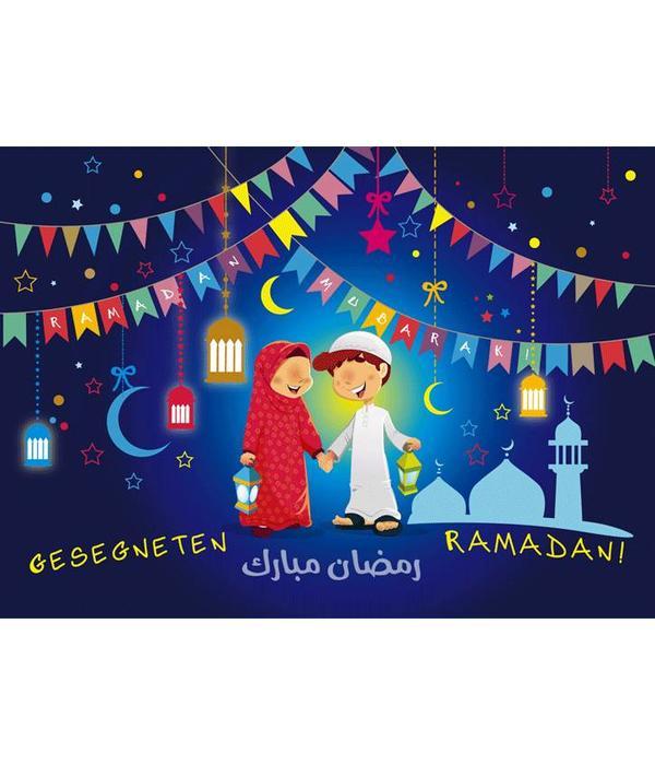 Ramadan Mubarak - Postkarte XL