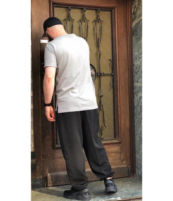 Ansaar Clothing Stoff Hose Schwarz