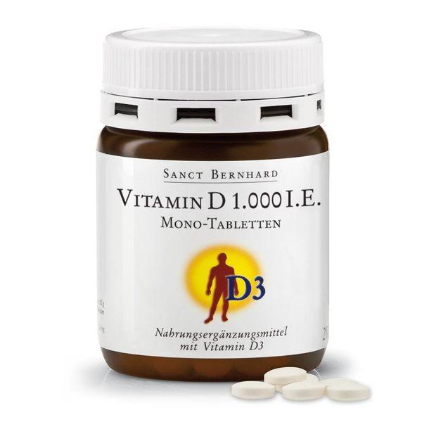 Vitamin D 1.000 I.E. Mono-Tabletten