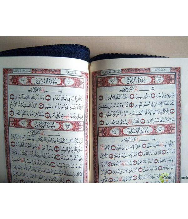 Quran Tajweed in Tasche mit Reißverschluss Hafs 9 x 13cm