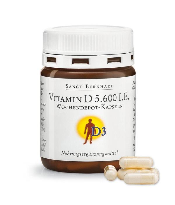 Vitamin D3 -  5.600 I.E. Wochendepot-Kapseln