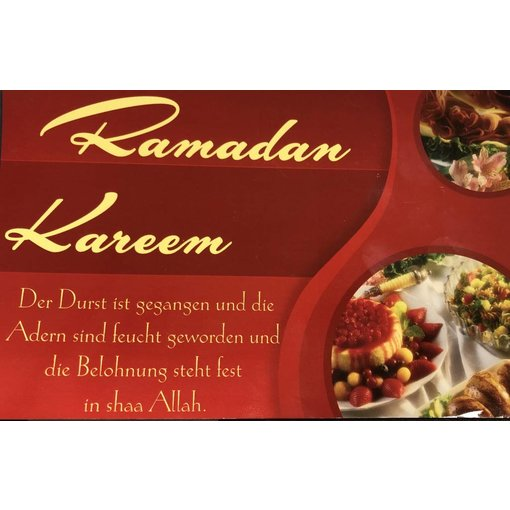 """Ramadan Kareem"" - Postkarte - XL"