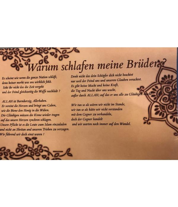 """""""Warum schlafen meine Brüder"""" - Postkarte XL"""