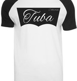 Tuba Collection T- Shirt - Tuba Design (Schwarz/Weiß)