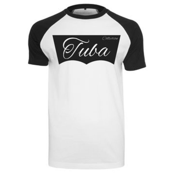 Tuba Collection T- Shirt - Tuba Design (Schwarz/Weiß)