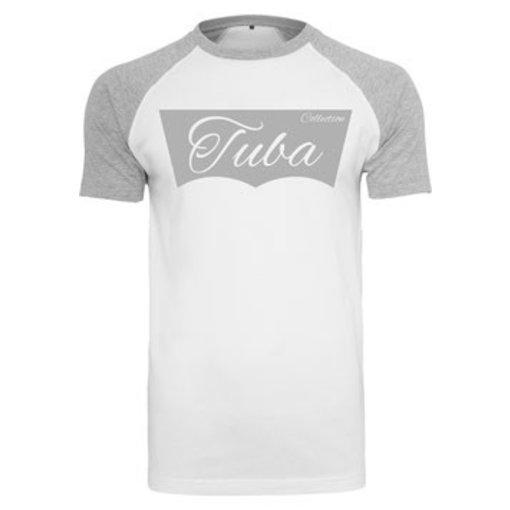 Tuba Collection T- Shirt - Tuba Design (Grau/Weiß)
