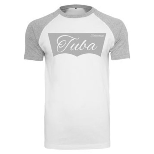 Tuba Collection T- Shirt - Tuba Design (Grau/Weiß)