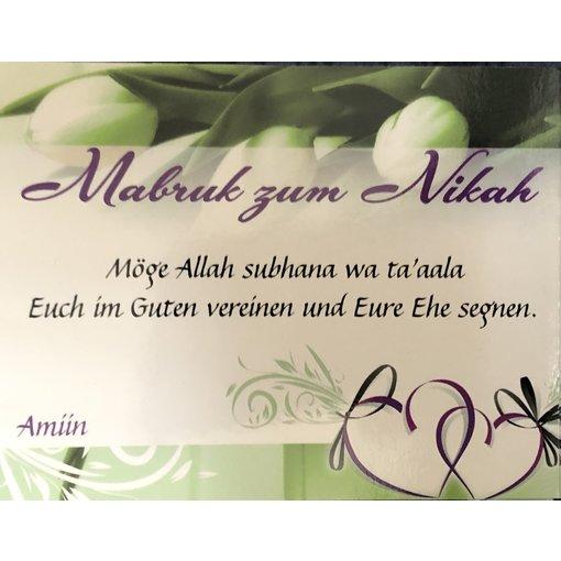 Mabruk zum Nikah - Postkarte - PK11