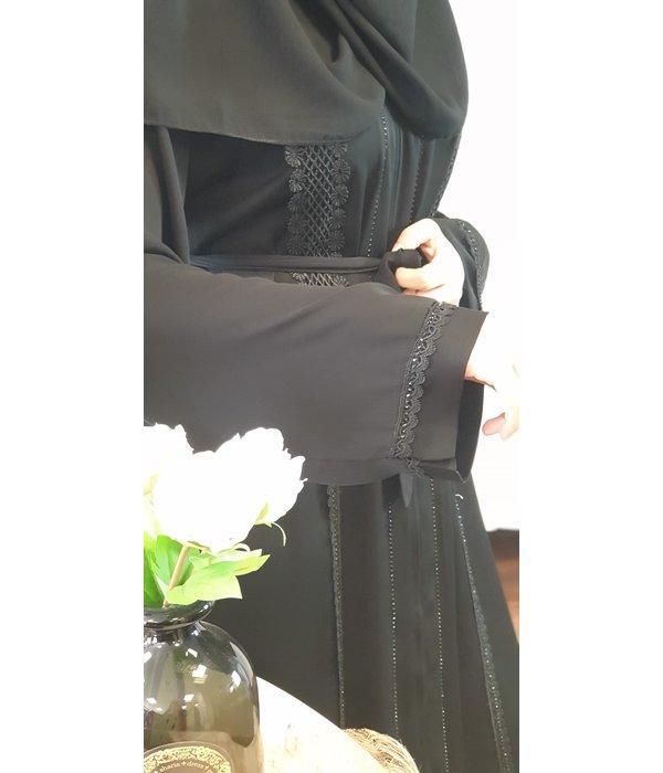 JORDANIEN COLLECTION (Black Edition) ABAYA Nr 08
