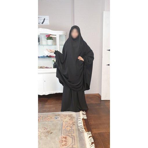Khimar Set - Dorra Al Maknouna - schwarz