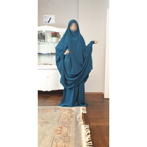 Khimar Set - Dorra Al Maknouna blau/petrol