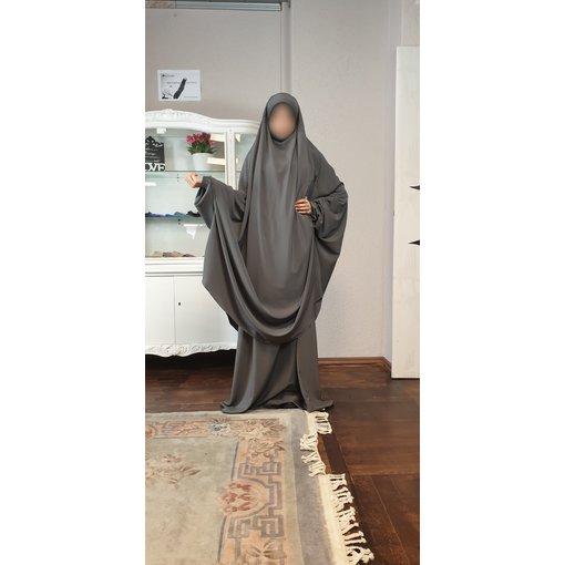 Khimar Set - Dorra Al Maknouna - grau