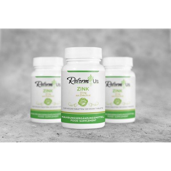 ReformUs ZINK 15 mg aus Zinkcitrat