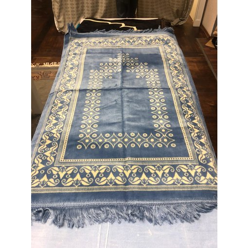 Gebetsteppich Hellblau Caro Muster