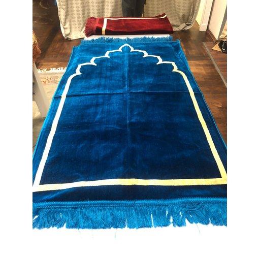 Gebetsteppich Hellblau Strichmuster