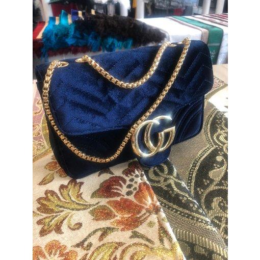 Damenhandtasche Stoff Blau