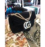 Damenhandtasche Stoff Schwarz