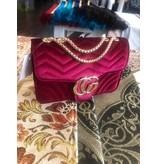 Damenhandtasche Stoff Rot
