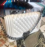 Damenhandtasche Kunstleder Beige