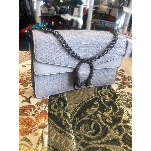 Damenhandtasche Kunstleder Grau