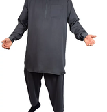 Tuba Shalwar Kameez Multan Men Grau