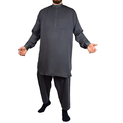 Tuba Shalwar Kameez Multan Men Grau