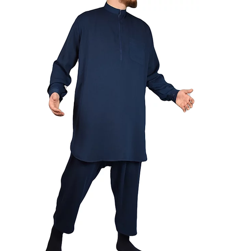 Tuba Shalwar Kameez Multan Men Blau
