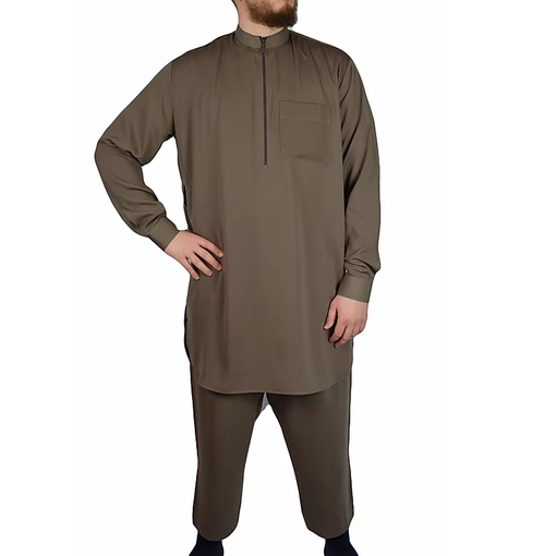 Shalwar Kameez Multan Men Hellbraun