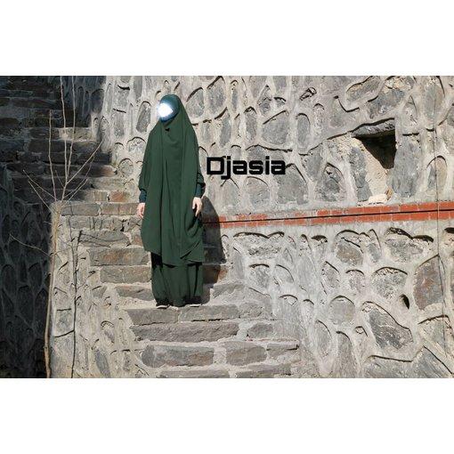 Djasia Khimar Set mit Hose  in versch. Farben ( Medina Seide )