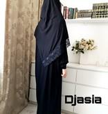 Djasia Gebetskleid  mit Kopftuch versch. Farben
