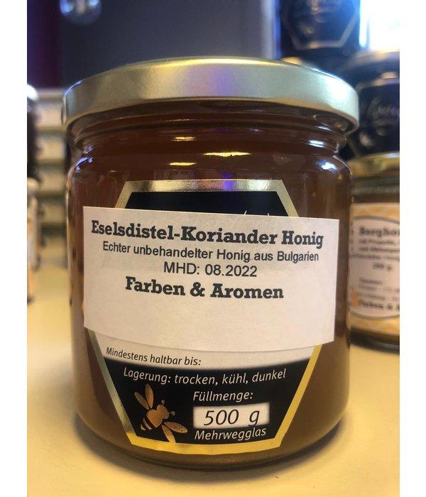 Eselsdistel Koriander Honig