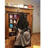 Niqab zweilagig lang  (Klettverschluß)