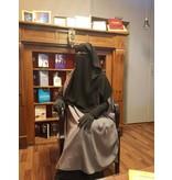 Niqab zweilagig (zum Binden dicke Bänder)