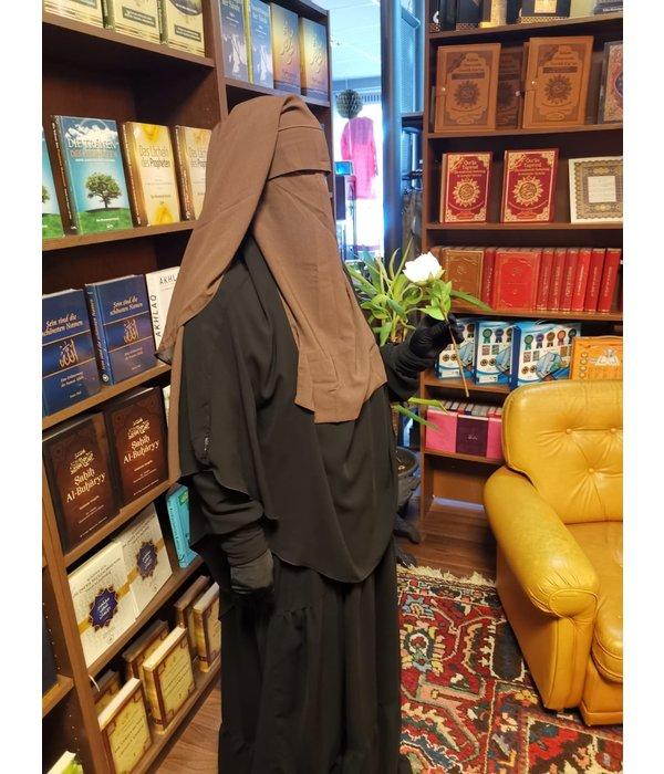 Niqab dreilagig mit Klappe mit Steg