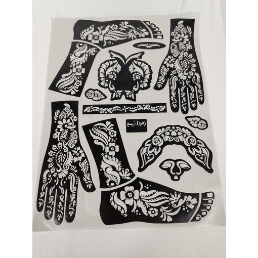 Henna Schablone