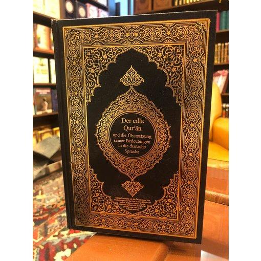 Der edle Quran und die Übersetzung seiner Bedeutungen in die deutsche und arabische sprache.
